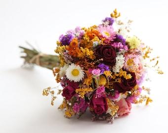 Dried bouquet. A beautiful handmade dried flowers bouquet.