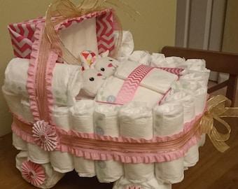 Twin Diaper Cake Etsy