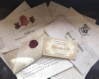 Gryffindor House Acceptance Personalized Hogwarts Wizard Acceptance Letter with House Letter Harry Potter inspired