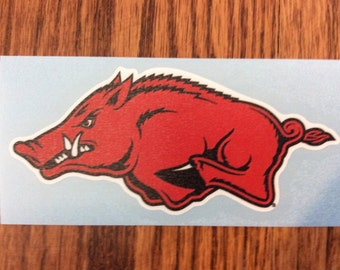 "Arkansas Razorbacks 3"" Die-Cut Vinyl Decal, Set of 2, Yeti"