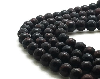 6mm Natural Brecciated Jasper Beads Round 6mm Jasper Beads 6mm Beads Red Jasper Red Gemstone Natural Gemstone Beads 6mm Brecciated