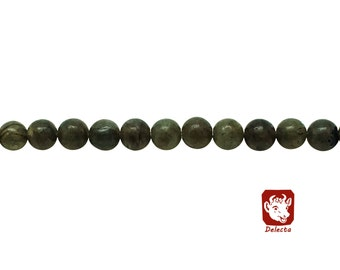 6mm Natural Labradorite Beads Grey Green Round 6mm Labradorite 6mm Grey Beads Grey 6mm Beads Grey Stone 6mm Grey Stone Mala Stone Grey Beads