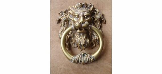 Lion head door knocker large x by fabbricreations - Large lion head door knocker ...