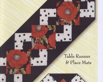 Simply a Pleasure Table Runner and Placemats Pattern by Nicole Chambers