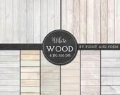 SALE 50% Wood Digital Paper, White wood texture background, rustic wood, wedding wood texture, scrapbooking, blog