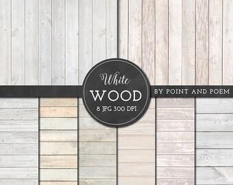 Wood Digital Paper, White wood texture background, rustic wood, wedding wood texture, scrapbooking, blog
