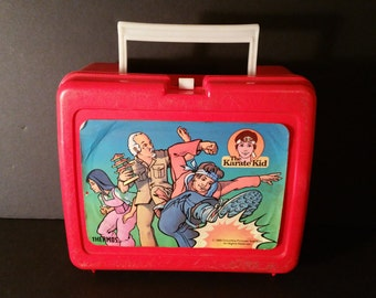1989 The Karate Kid Plastic Thermos Lunch Box