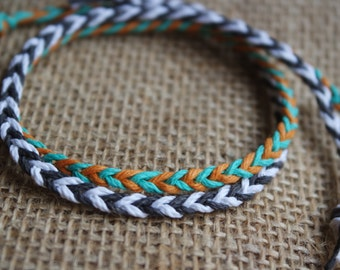 Simple Fishtail Hemp Friendship Wish Bracelet