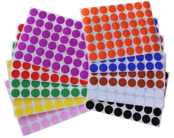 Color Coding Stickers ~3/4'' or 17 mm Circular Labels Small Round Dots 17 Colors Available 720 Pack