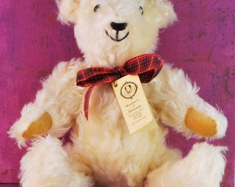 "Geraldine's of Edinburgh ""Robert"" Mohair Bear Limited Edition"