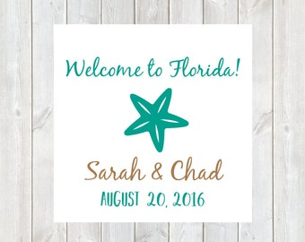 Wedding Welcome Tags, Welcome Bag, Welcome Bags, Hotel Tags, Destination Wedding Tag, Tags, Wedding Welcome Bags, Starfish, DIY Printable