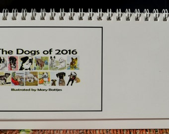 The Dogs of 2016 Illustrated Desk Calendar - 50% Off