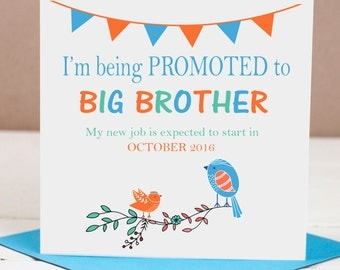 Pregnancy Announcement / Big Brother Card