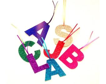 Glitter Letter Gift Tags