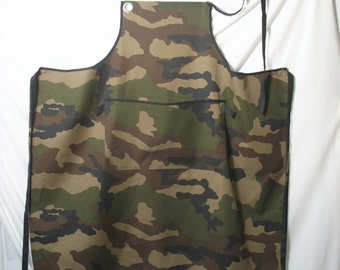 Camouflage printed cloth apron