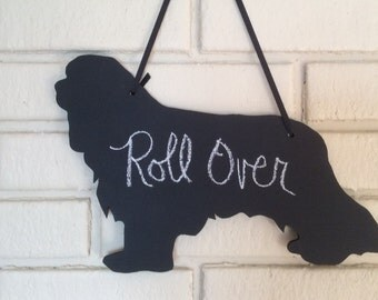 King Charles Cavalier Handmade Chalkboard Dog Wall Hanging - Shadow Silhouette - Country Decoration- Gift for that Special Person