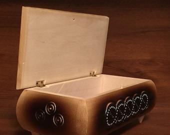 jewelry box Ring box Wooden box Handmade box wood carving monogram