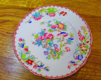 vintage minton plate x 4, indian tree plate ref 8