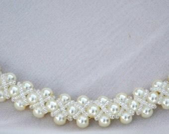 Jewelry. Necklace. Bridal jewelry.Wedding necklace. Beaded necklace. Wedding jewelry. bridal necklace. bridesmaid jewelry.  pearl jewelry