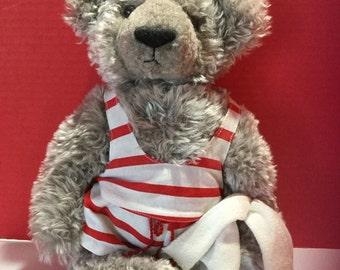 Mohair Teddy ready for a swim