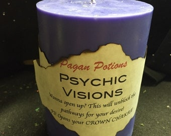 Psychic Visions ritual candle