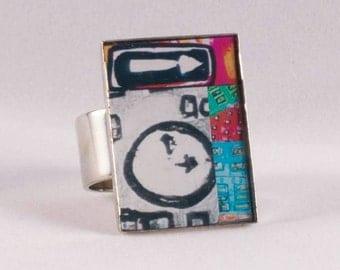 Clock grey ring adjustable stainless steel melaniebernard.com