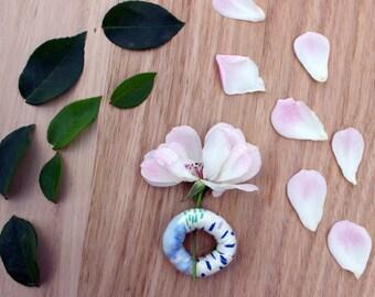 Japanese Fabric Ring. Minimalist, Modern Design