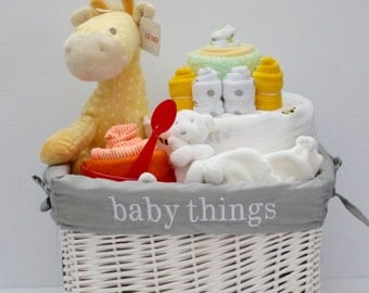 Gender Neutral Baby Gift Basket, Baby Shower Gift, Unique Baby gift, newborn gift