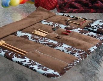 Knitting Needle Organizer - Hand Made Travel Needle Case - Great for Knitting Needles or Crochet Hooks