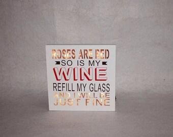 WINE IS FINE! Lit Sign
