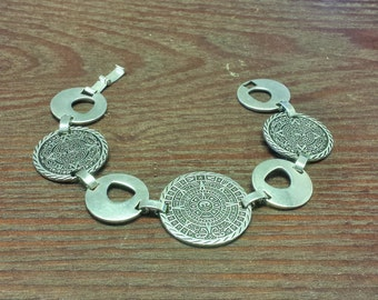 Sterling Silver South American Style Bracelet