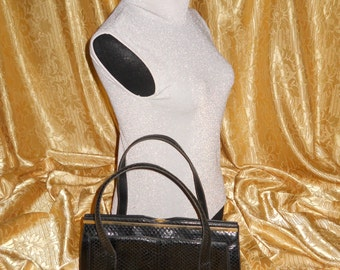 Genuine vintage bag - genuine python