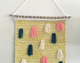 Wall Weaving Multicolor Fringe