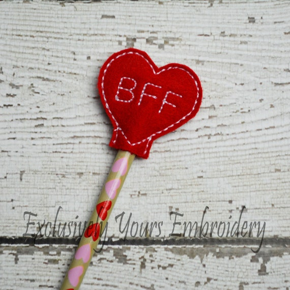 Valentine S Day Toy Prizes : Bff heart pencil topper party favor valentine