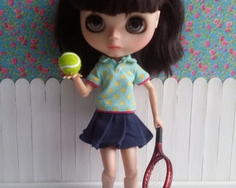 Red tennis racket ball for Blythe & Dolls