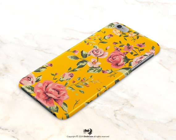 iPhone 8 plus Case floral iPhone 8 Case TOUGH  iPhone 7 Plus Case iPhone 6s Case iPhone X Case Yellow iPhone 6 Case Samsung Galaxy S8 Case