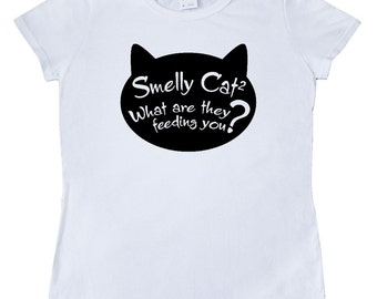 Smelly Cat Women's T-Shirt by Inktastic