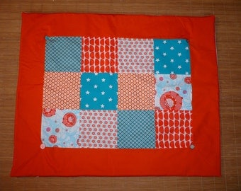 wide cotton patchwork plaid (or playing blanket) for baby