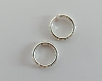 925 solid Sterling silver jump rings opened. 6.8 mm. handmade.  JR59
