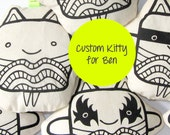 Custom order for Ben | Fabric toy | Robert Smith | The Cure | Pirate | Jack Sparrow | Black and white | Kawaii print | Designer toy | NULZET