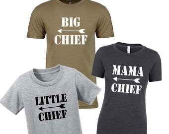 BIG CHIEF T-shirt Father's Day Gift, Fathers Day, Father Gift, Gift for Him, Anniversary Gift, Gift for Dad, Gift for Husband, New Dad Gift