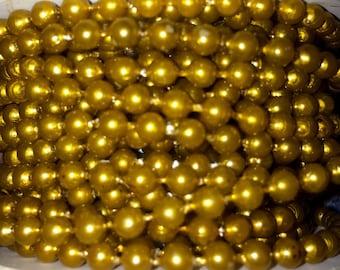 Carmel color 4mm pearl bead strands 2yards