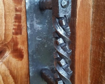 Door Handle, Railroad Spike made to order.