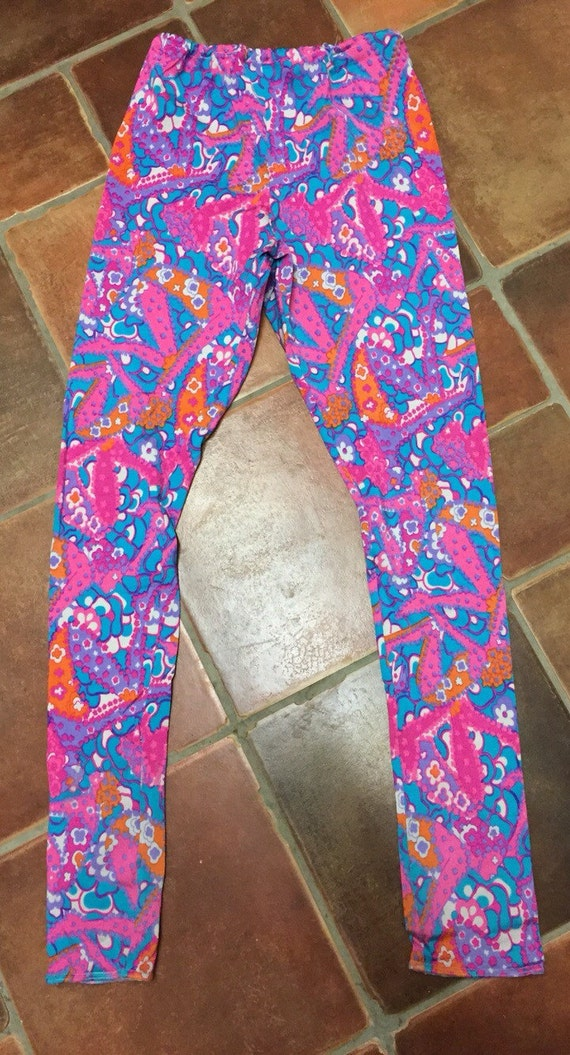 Bright 1980's leggings size 10-12