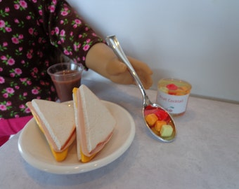 Turkey and Cheese Sandwich Lunch for American Girl Doll