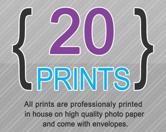 20 Professionaly Printed Invitations