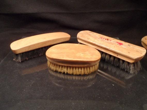 Shoe Shine Brushes-Vintage Shoe Shine Brushes-Tutt Estate