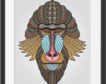 Tribal Chimp Posters