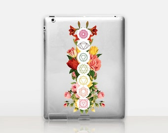 Floral Chakras Transparent iPad Case For - iPad 2, iPad 3, iPad 4 - iPad Mini - iPad Air - iPad Mini 4 - iPad Pro