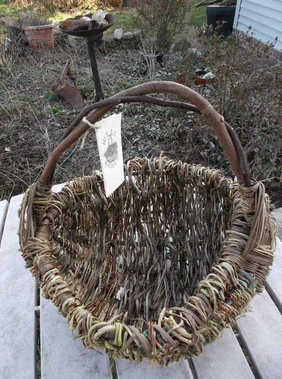 Basket Weaving Dyed Reed : Wild basket large black walnut dyed reed by